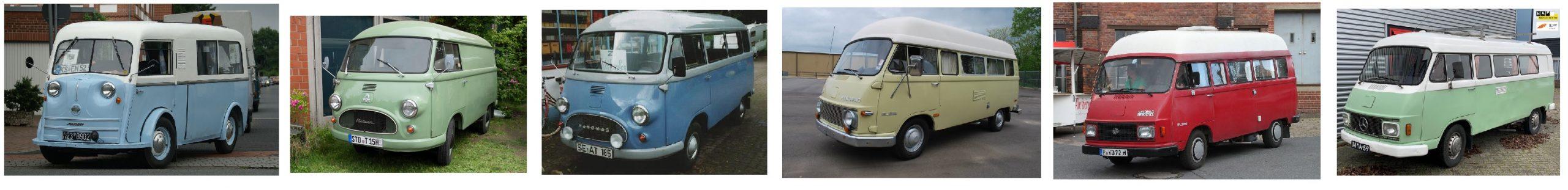 Comparativa de furgonetas Mercedes Antiguas tipo Harburger Hanomag